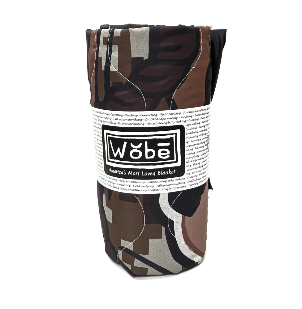 Woobie USA Tribe Throw Blanket - Marine Girl on Dark Brown - Bawidamann Art
