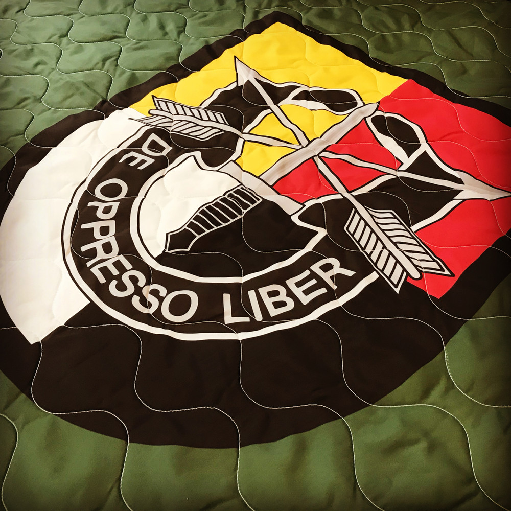 Woobie USA Tribe Throw Blanket - 3rd Special Forces Group on Green