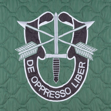 Woobie USA Tribe Throw Blanket - De Oppresso Liber (DOL) on Green