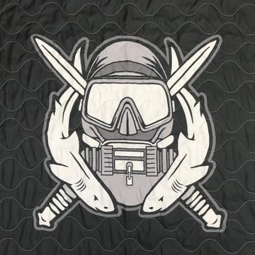 Woobie USA Tribe Throw Blanket - Combat Diver