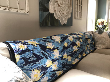Woobie USA Tribe Throw Blanket - Aloha Now - Blue - Bawidamann Art