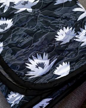 Woobie USA Tribe Throw Blanket - Aloha Now - Black - Bawidamann Art