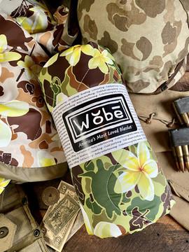 Woobie USA Tribe Throw Blanket - Aloha Pua Honu - Double-Sided - Bawidamann Art