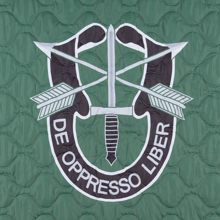 Woobie USA Tribe Throw Blanket - De Oppresso Liber (DOL) on Green