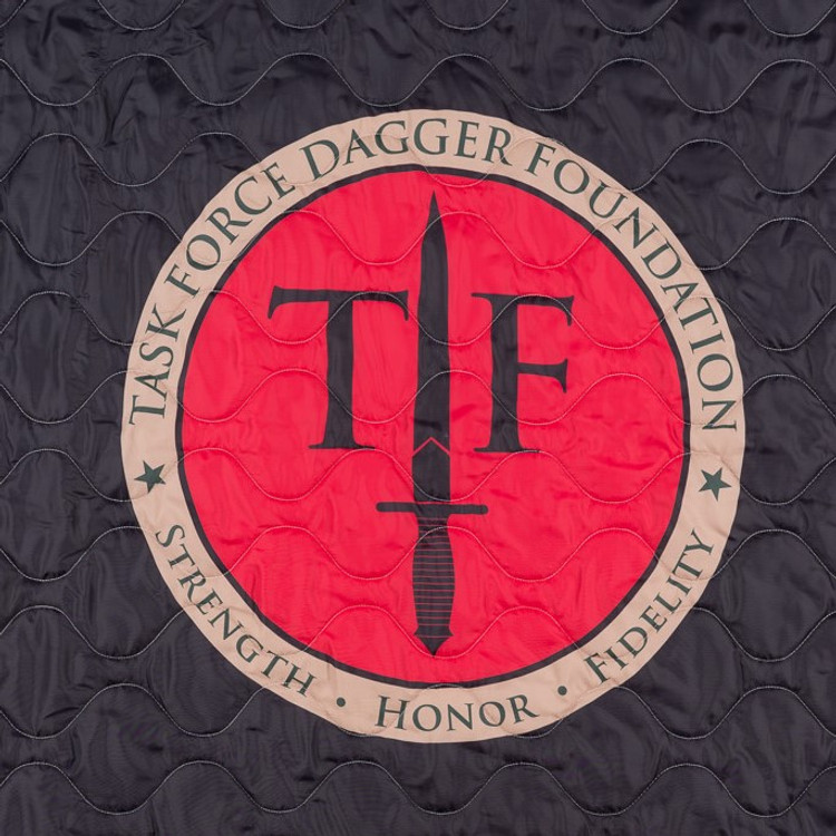 Woobie USA Tribe Throw Blanket - Task Force Dagger Foundation (TFDF) on Black