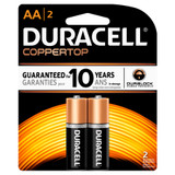 Duracell AA Size Alkaline Battery - 1.5V - 2/Pack