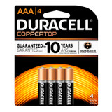 Duracell AAA Size Alkaline Battery - 1.5V - 4/Pack