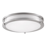 "LED Double Ring 12"" Ceiling Light - Brush Nickel - Euri"