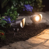 LED Low Voltage Pathway Spotlights - Textured Oil-Rubbed Bronze - 2 Pack - 4.5 Watt - 400 Lumens - 3000K - Duracell