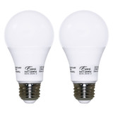 LED A19 - 2-Pack - 9.5W - 60W Equiv - Dimmable - 800 Lumens - Euri