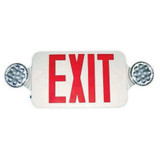 Double Side LED Combination Exit Sign - High Output - Adjustable LED Lamp Heads - 90 Min. Emergency Operation - 120/277V by Morris
