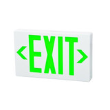LED Remote Capable - Self Diagnostic Classic Exit Sign - Morris Green LED Color/White Housing