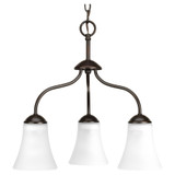 Classic Collection - 3 Light Chandelier With Etched Glass Shade - Progress Lighting