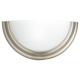 Eclipse Collection - One-Light Wall Sconce - Brushed Nickel - Progress Lighting