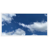 2ft x 4ft LED Flat Panel - 49W - Cloud Design - B2
