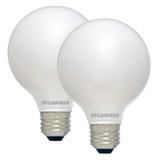 LED G25 - 2 Pack Globe Bulb - 60 Watt - 550 Lumens - Sylvania