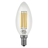 4-Pack LED B10 Filament - 4.5 Watt - Dimmable - 60W Equiv - 500 Lumens - Euri Lighting