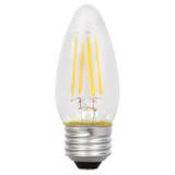 LED B10 Amber Filament - 4.5 Watt - Dimmable - 40W Equiv - 450 Lumens - Sylvania