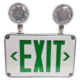 LED Wet Location Combo Exit Sign & Emergency Light - Morris