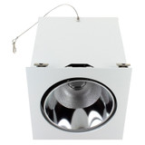 LED - 1 Light - Recessed Downlight - Square Trim and Dimmer - White