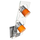 Movy 2 Light Sconce - Clear - Nickel