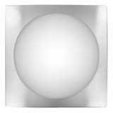 Circular Flushmount Light -  Nickel with Frosted Glass Insert