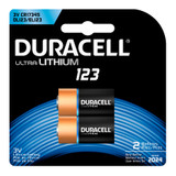 Duracell 123 Lithium Battery - 3V - 2/Pack