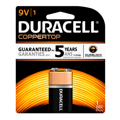 Duracell 9V Size Alkaline Battery - 1/Pack