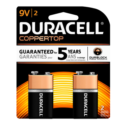 Duracell 9V Size Alkaline Battery - 2/Pack