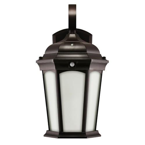 Flame Lantern - Frosted Glass - Photocell & Motion Sensor