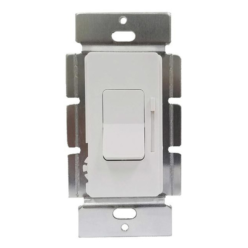 150W - 0-10V - White Decorator CFL/LED Dimmer 3-Way - Mini Paddle and Slider - No Power Pack Required - Enerlites