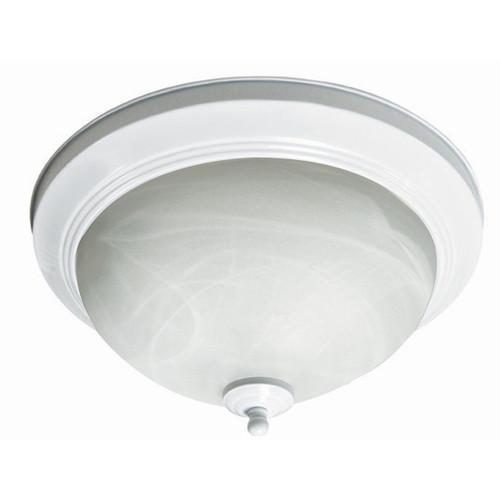 LED 13 inch White Flush Mount - 17Watt - 75W Equiv - Dimmable - 1024 Lumens - MaxLite