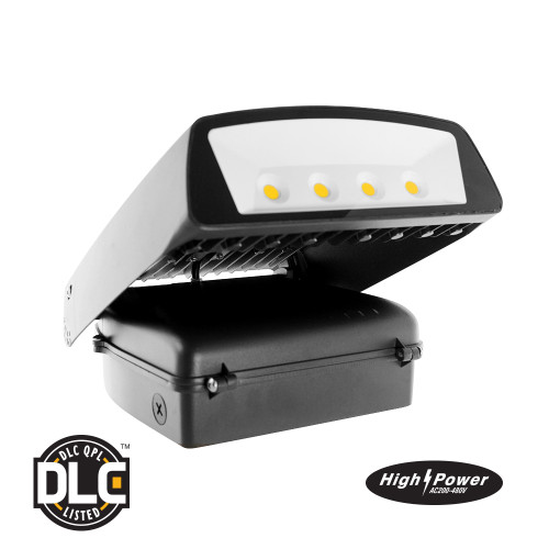 LED High Power Voltage Wall Pack - 70 Watt - 7500 Lumens - Euri