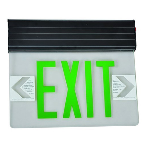 LED Surface Mounted Exit Sign - Edge Lit - Double Sided  - 120/277V - Morris