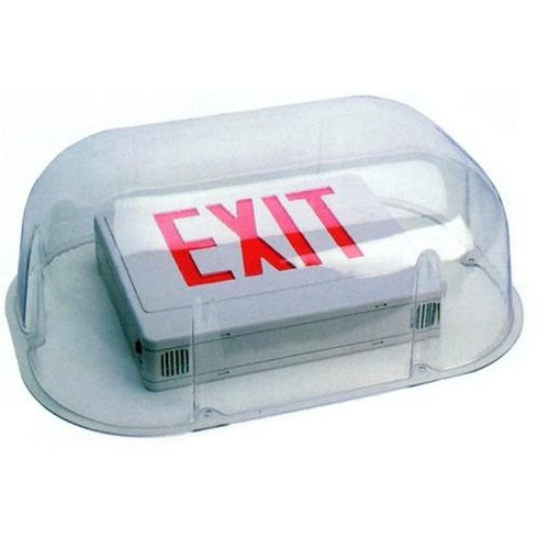 Polycarbonate Vandal/Environmental Shield Guard For Use With Combo Exit/Emergency Lights - Morris