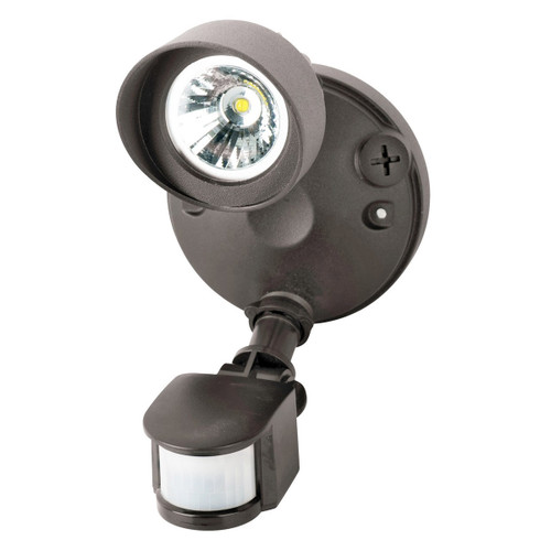 Single-Head LED 14 Watt Bronze Security Light Motion-Activated 1030 Lumens by Morris
