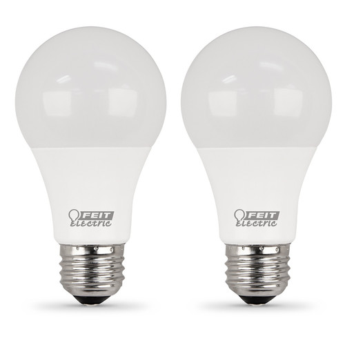 LED A19 - 11 Watts - 75W Equiv - 2-Pack - 1100 Lumens - Feit Electric