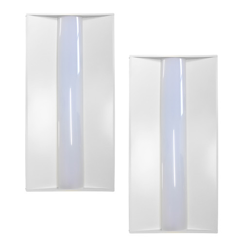 Case of 2 - 2x4ft LED Troffer - 50W - Dimmable
