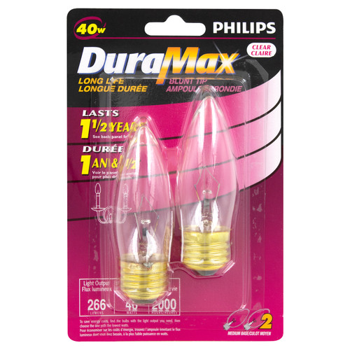Chandelier Bulb - 2 Pack - 40W - Philips