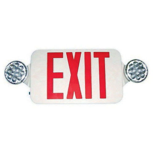 Double Side LED Combination Exit Sign - LED Lamp Heads - 90 Min. Operation - 120/277V - Morris