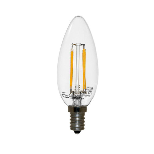 LED B11 Filament - 4 Watt - Dimmable - 40W Equiv - 330 Lumens - Euri