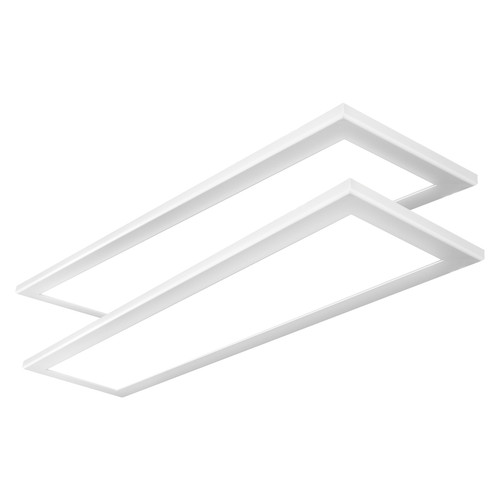 Case of 2 - 1x4ft LED Flat Panel - 42W - Dimmable - 4200 Lumens