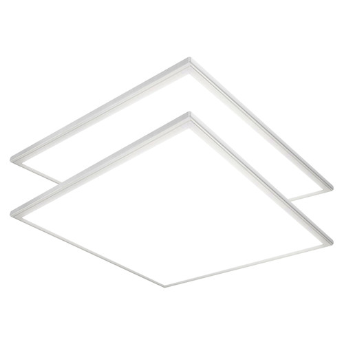 Case of 2 - 2ft x 2ft LED Flat Panel - 32W - 3400 Lumens