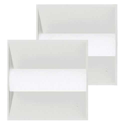 Case of 2 - 2ft x 2ft LED Troffer - 24W - Dimmable