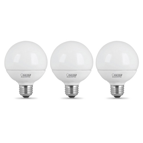 LED G25 - 3-Pack - 5 Watts - 40W Equiv - 350 Lumens - Feit Electric