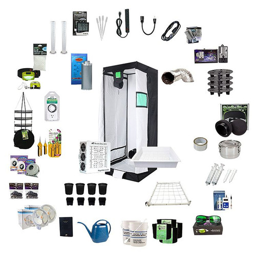 2.5ft x 2.5ft Complete Grow Kit - PhytoMAX-2 200 - 200W - Black Dog LED