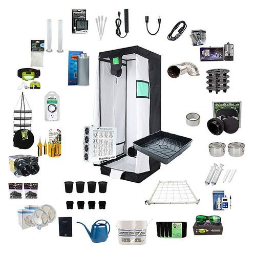 3.25ft x 3.25ft Complete Grow Kit - PhytoMAX-2 400 - 420W - Black Dog LED