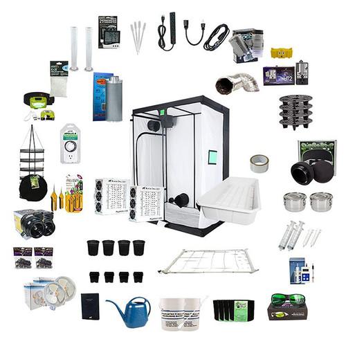 2.5ft x 4ft Complete Grow Kit - PhytoMAX-2 200 - 200W - Black Dog LED