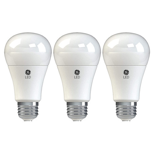 3-Pack LED A19 - 11W - Non-Dimmable - 1050 Lumens - GE