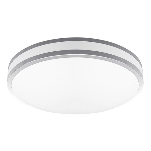 "2-Pack LED 11W 12"" Indoor Ceiling Light - Silver - 900 Lumens - Euri Lighting"